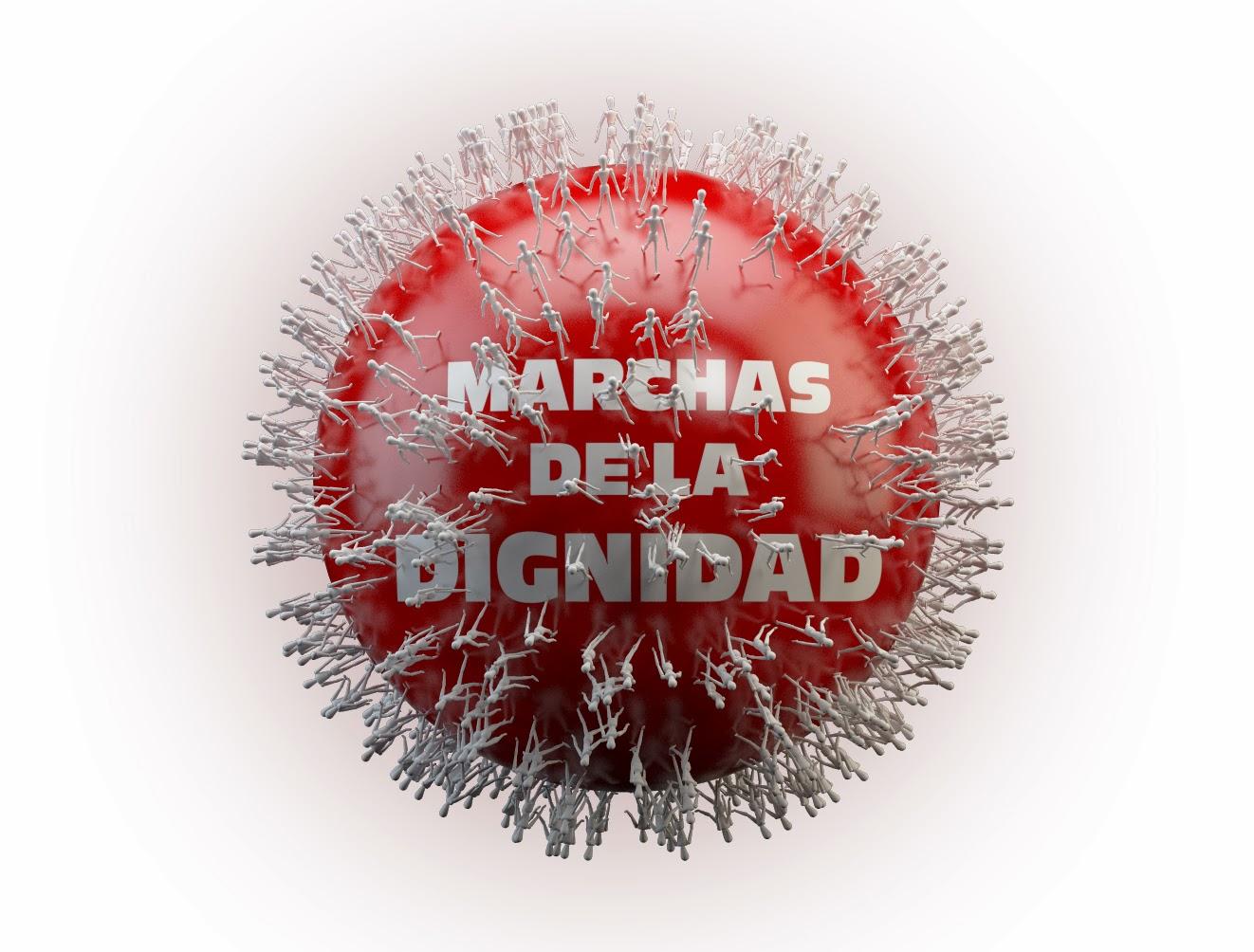 Marcha Dignidad Esfera Blanco