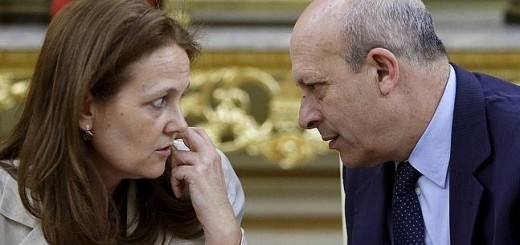 José Ignacio Wert con Montserrat Gomendio, su pareja sentimental y secretaria de Estado de Educación.